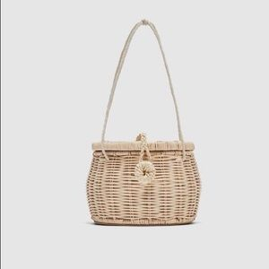 Zara Raffia Basket Handbag
